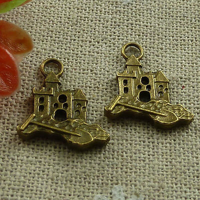 Free Ship 220 pieces Antique bronze nice charms 19x16mm #870