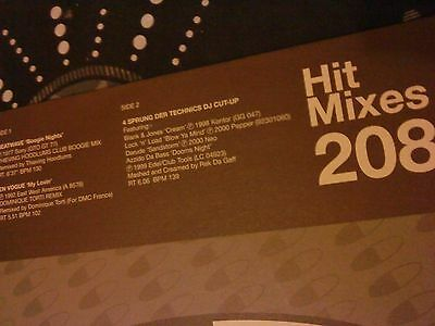 "Various ‎– DMC Hit Mixes 208 12"" Dance House Trance Record Vinyl"