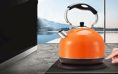 Orange  High-Capacity  Stainless Steel  3L Home Kitchen Electric Kettle