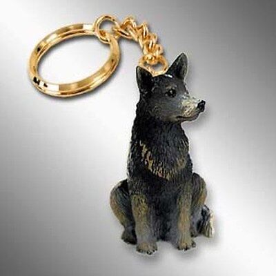 Australian Cattle Dog Blue Heeler Tiny One Resin Keychain Key Chain Ring