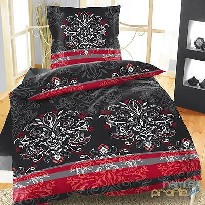 mikrofaser bettw sche 135x200 cm 4 teilig 2 teilig ornamente blumen schwarz eur 9 99 picclick de. Black Bedroom Furniture Sets. Home Design Ideas