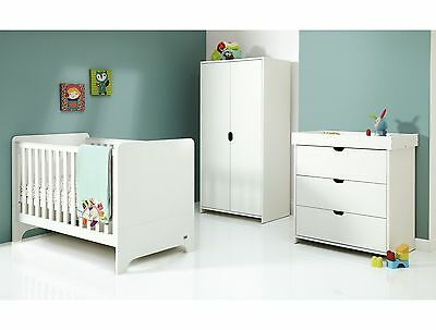 Mamas & Papas Rocco 3 Piece Furniture Set - White -From the Argos Shop on ebay