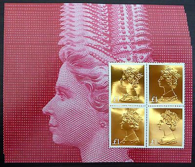 GB 2017 Machin £1 Gold Foil Booklet Pane x 10 ROYAL MAIL SOLD OUT.... NB1763