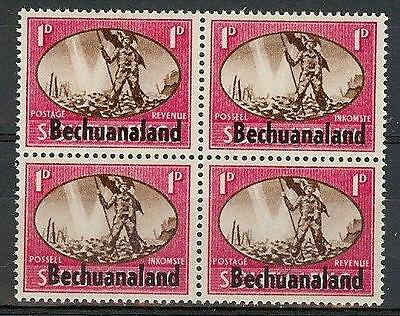 Bechuanaland 1945 Sc# 137 Peace issue 1p block 4 MNH British colony