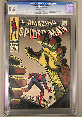 Amazing Spider-Man #67 Cgc 8.5 1St Appearance Randy Robertson And Mysterio