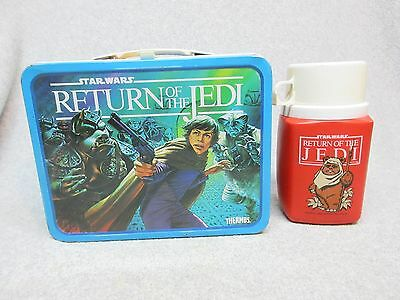 Original 1983 RETURN of the JEDI  Star Wars LUNCHBOX & THERMOS  C#8