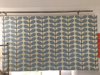 Roman Blind Made to order in Orla Kiely Two Colour Way Powder Blue
