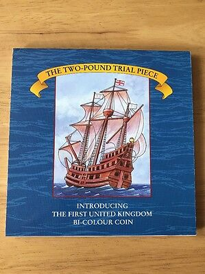 1994 Royal Mint Two Pound £2 Trial Pack Featuring The First Bi Metal Coin