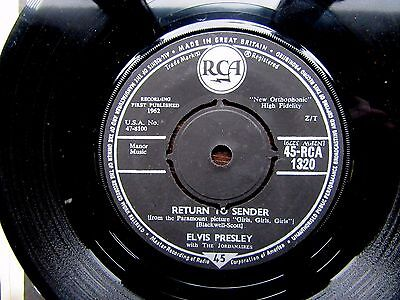 "ELVIS PRESLEY Return To Sender RCA 1320 Original 7"" 1962"