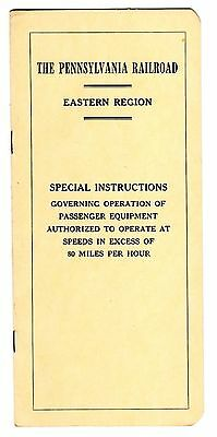 Pennsylvania Rr - Eastern Region - Special Instructions Passenger Equip- 10/1/67