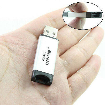 USB Metal MicroSD and MicroSDHC Card Reader up to 32GB