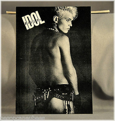 Billy IDOL Bum Vintage UK Postcard (s) Original and Mint x53 PC's All in last!