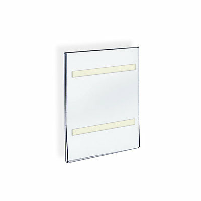 Azar 122021 8.5 W x 11 H Acrylic Sign Holder with Adhesive Tape  , 10Pack