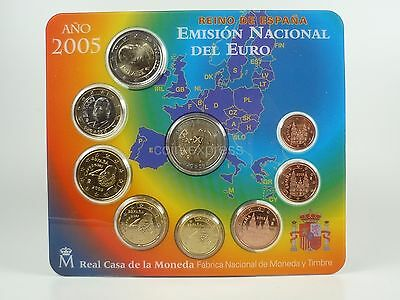 *** EURO KMS SPANIEN 2005 BU + 2 € Don Quichotte Spain Kursmünzensatz Coin Set *