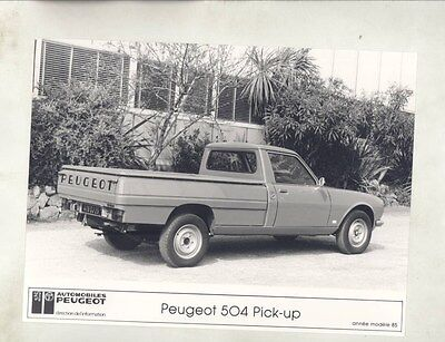 1985 Peugeot 504 Pickup Truck ORIGINAL Factory Photograph wy1055