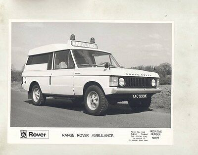 1973 ? Range Rover Ambulance ORIGINAL Factory Photograph wy1097