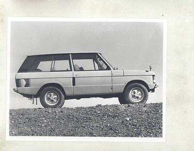 1973 ? Range Rover ORIGINAL Factory Photograph wy1099