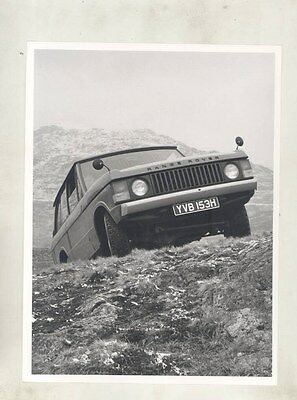 1973 ? Range Rover ORIGINAL Factory Photograph wy1111