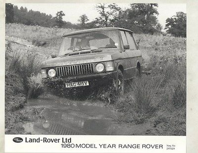 1980 Range Rover ORIGINAL Factory Photograph wy1113