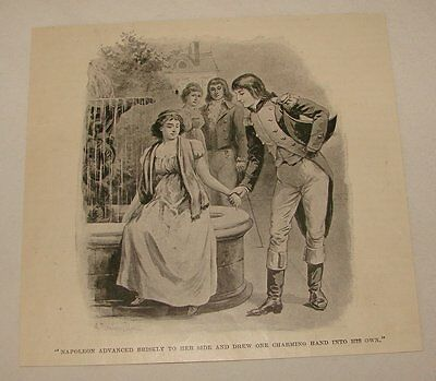 1895 magazine engraving ~ NAPLOLEON CHARMING A WOMAN, France