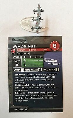 """Axis & Allies War At Sea: A6M2-N """"Rufe"""" And Stat Card, Seaplane Fighter"""