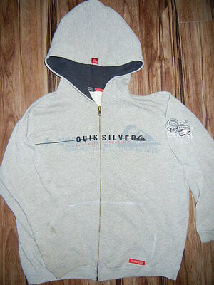 Hoodie QUIKSILVER sweatshirt jacket gray youth medium