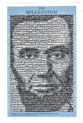TOGO MNH sheet of Lincoln Millennium of faces stamps