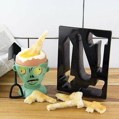 Noki ZOMBIE Eggpocalypse EGG CUP Spoon and SWORD TOAST CUTTER Plastic