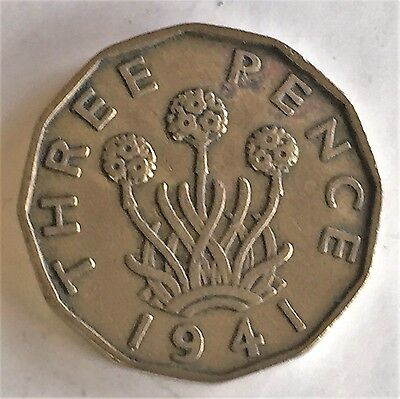 C3544    Great Britain   Coin,    Threepence    1941