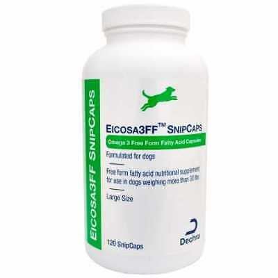 Dechra Eicosa 3FF SnipCaps  Large Dogs over 30 lbs 120 count