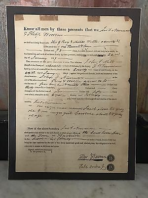 1829 Madison county Alabama Forced Slave Sale Document Signed By The Sherrif