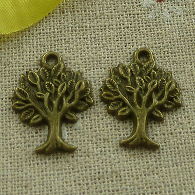 free ship 200 pieces Antique bronze tree charms 22x17mm #3338