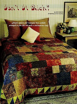 Isn't It Rich        Quilt   pattern only