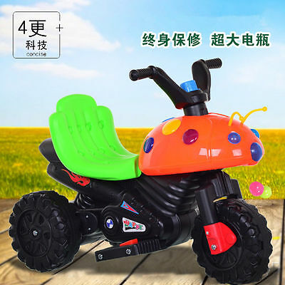 6V 3-Wheel Electri Kids Motorcycle Battery Powered Ride On Bicycle Tricycle Toy