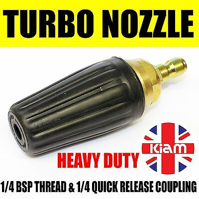 Heavy Duty Turbo Nozzle Pressure Washer Dirt Blaster Spinning Jet 4000PSI 280Bar