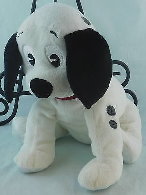 """Disney 101 Dalmatians Baby Rattle Toy Puppy Dog Plush Lovey 9"""" Character Direct"""