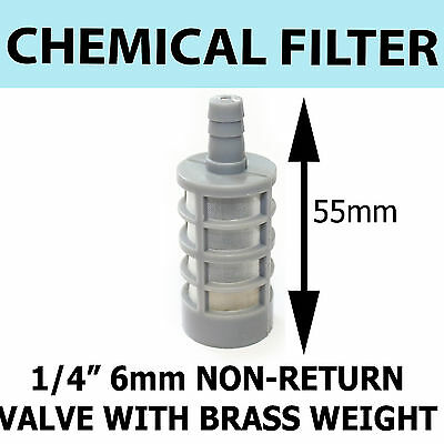 "Detergent FILTER Pressure Washer 1/4"" 6mm  Plastic mesh with Brass weighted"