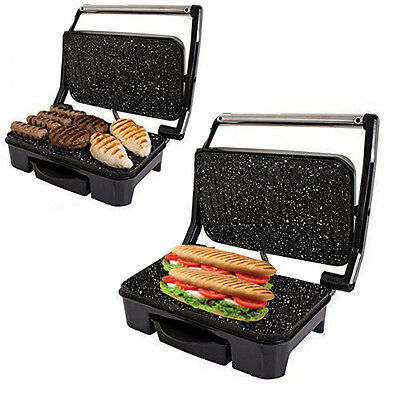 Health Grill Large 2 In 1 Sandwich Panini Toastie Maker Press Open Top Griller