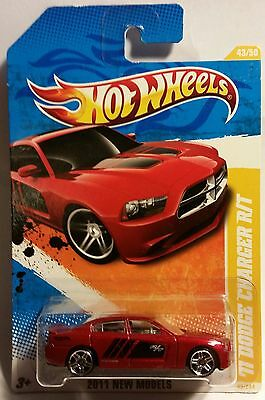 """2011 Hot Wheels """" '11 Dodge Charger R/t '"""" New Model #43 1:64"""