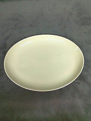 "Vintage Russel Wright Iroquois Casual China 14.5 x 11"" Platter light Green heavy"