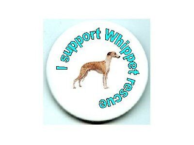 60 Whippet dog support pins rescue fund raiser