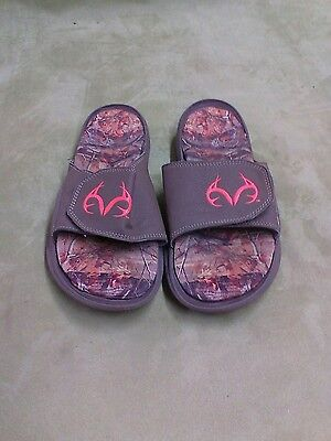 606f1a5aece8a Men's Realtree Max Camouflage Sandals Slides Mules Frayed Canvas 10 11 12 ~  New