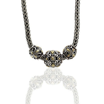 John Hardy Batu Kawung Necklace in Sterling Silver and 18K Yellow Gold | FJ