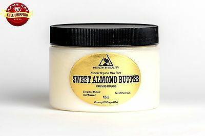 Sweet Almond Butter Organic Cold Pressed Premium Quality Fresh Pure 12 Oz