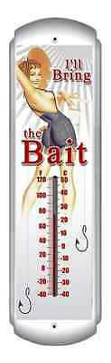 """I""""ll Bring the Bait Thermometer - Hand Made in the USA with American Steel"""