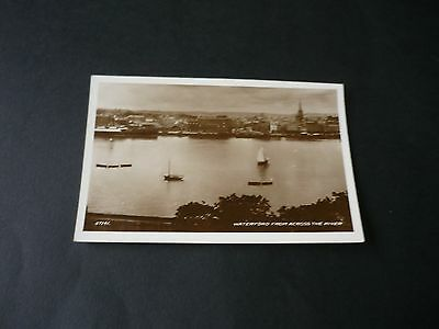 WATERFORD from across the river, Vintage Real Photographic Postcard