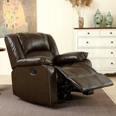 Astounding Black Leather Swivel Rocker Glider Recliner Arm Chair Onthecornerstone Fun Painted Chair Ideas Images Onthecornerstoneorg