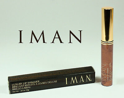 IMAN BRILLANT REFLETS A LEVRES DELUXE LIP SHIMMER BROWNIE 7g MARQUE USA Z
