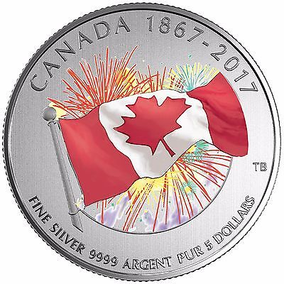 2017 Canada $5 Proudly Canadian - Glow in the Dark Fine Silver Coin