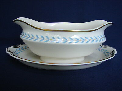 Old Ivory Syracuse China SHERWOOD Gravy Boat with Attached Underplate
